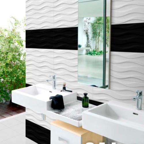 12 X 24 And 36 White Wavy Tiles